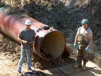 gas transmission main inspection