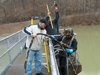 dam seepage inspection
