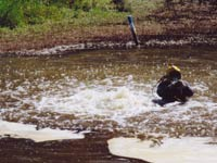repairing a leak in a natural gas pipeline
